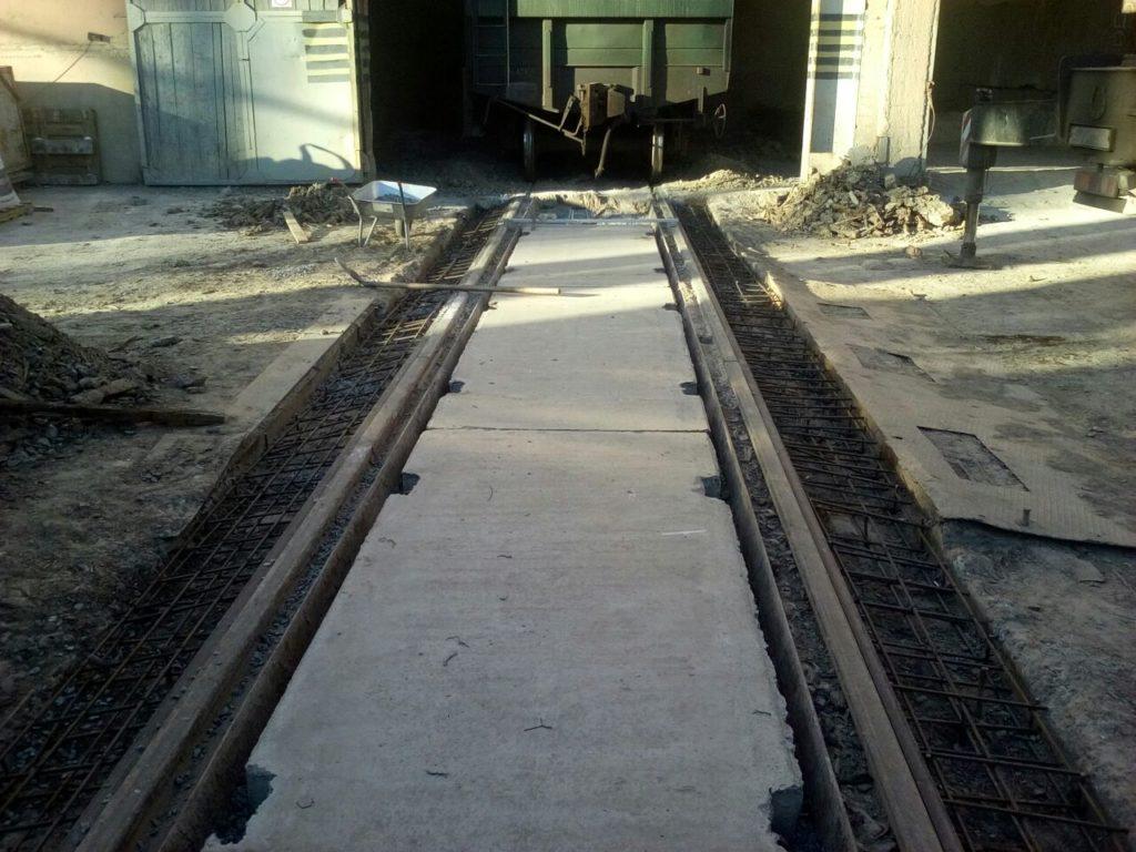 Железнодорожные пути ведущие в цех на объекте