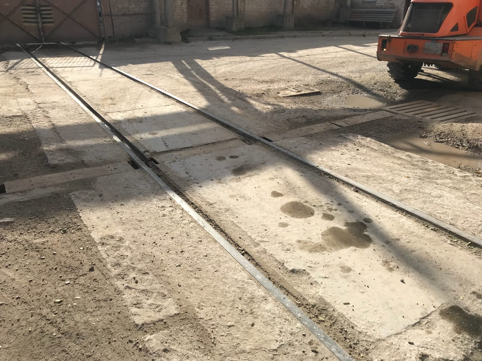 Железнодорожные пути на предприятии Воронежская керамика