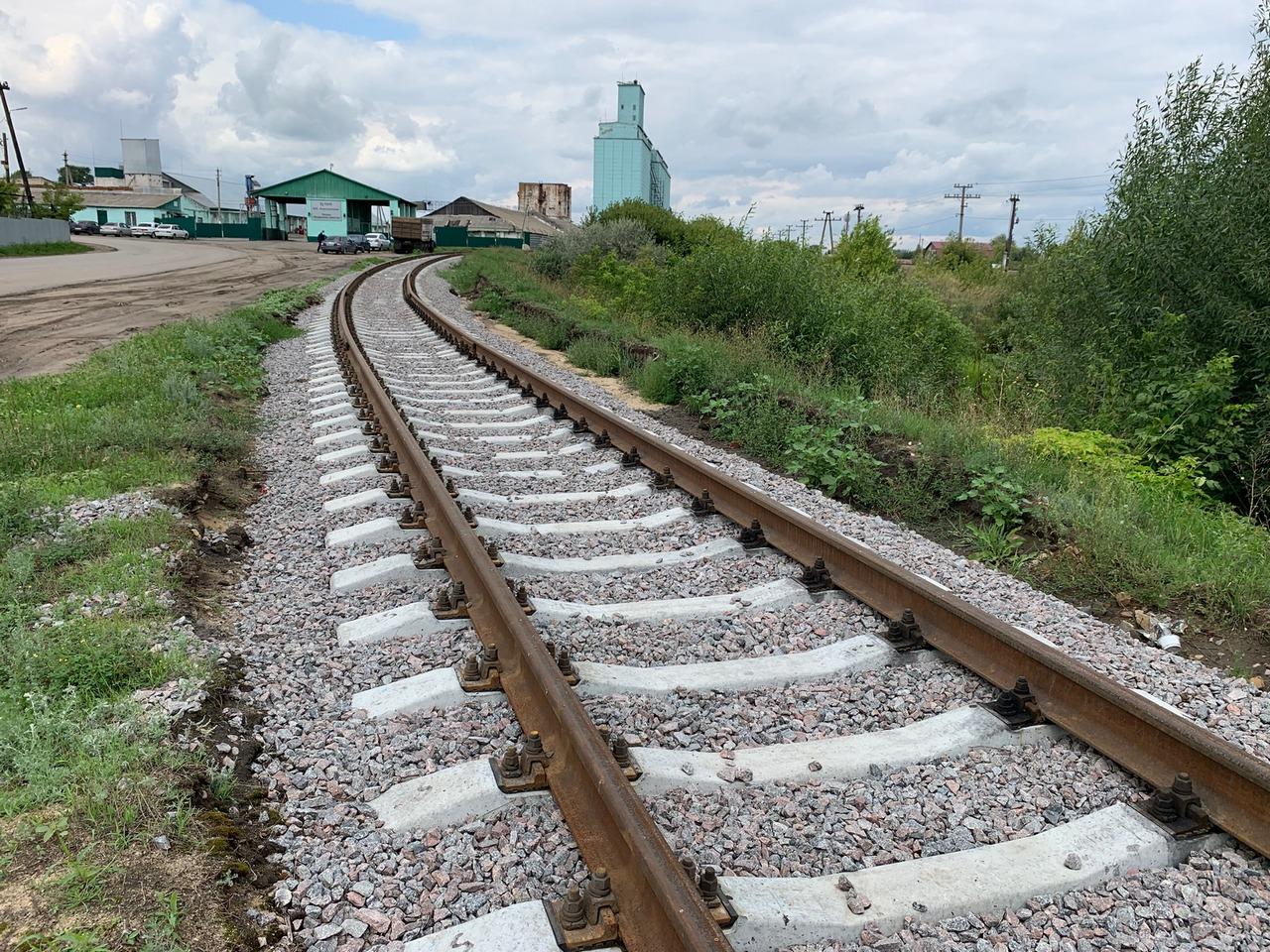 Железная дорога поворачивает направо